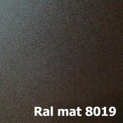 МАТ Ral 8019 (Темно-Коричневый)