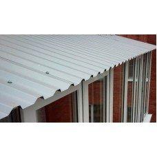 Балконная крыша из профнастила своими руками