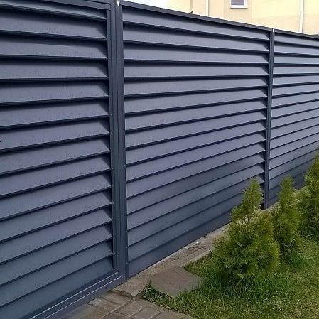 забор жалюзи металлические